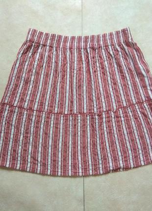 Легкая летняя юбка с высокой талией yessica, l размер.