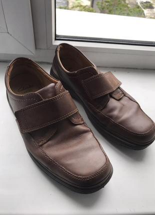 Мужские туфли clarks flexught,кожаные оригинал 43,р 29 см