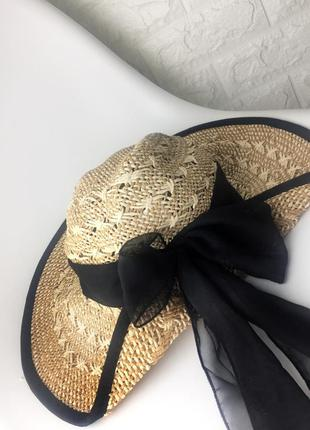 Соломенная шляпа новая натуральная
