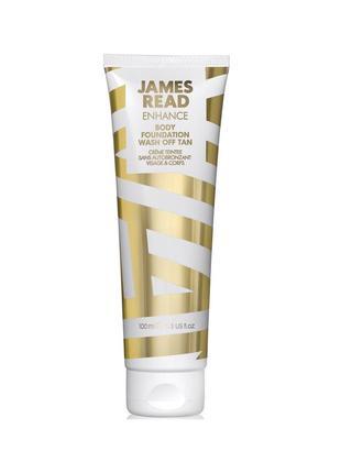 Молочко автозагар для лица и тела enhance body foundation wash off tan james read 100 ml