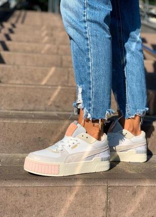 Шикарные женские кроссовки puma cali white sport