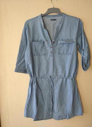 Туника сукня платье великий розмір тонкого деніма