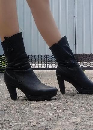 👢зимние сапожки на каблуке 👢
