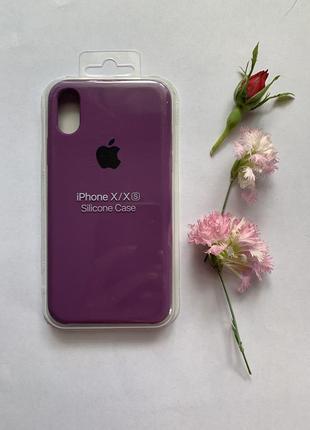 Стильный фиолетовый чехол на iphone x xs айфон 10 10с 10s1 фото