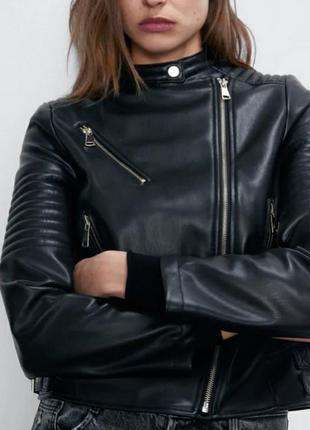 Куртка шкірянка zara