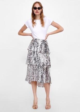 Скидки шикарная юбка zara