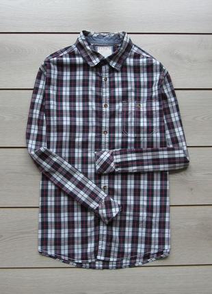 Рубашка в клетку regular fit от esprit