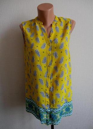 Sale -50%! яркая желтая блуза украшенная стразами george