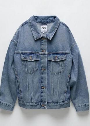 Джинсовка zara джинсова куртка