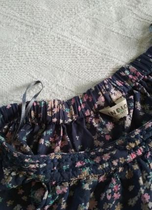 Marks& spencer юбка лёгкая, с запахом, юбочка миди летняя