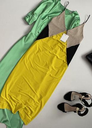 Новое трендовое платье комбинация миди на тонких бретелях zara