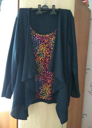 Женская блузка обманка bonmarche большой размер