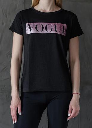 """Женская футболка """"vogue"""" black/violet"""