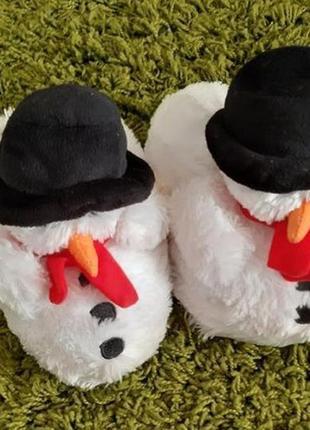 Тапочки к новогоднему костюму снеговика.костюмные тапки.