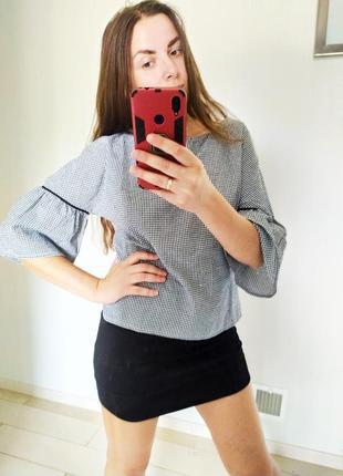 Новая клетчатая блуза кофта