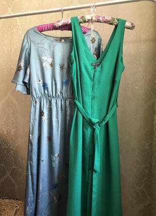 Стильный сарафан платье халат на пуговицах миди макси asos zara mango