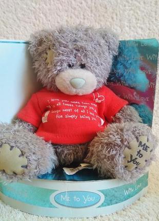 Teddy bear медведь carte blanche me to you подарок