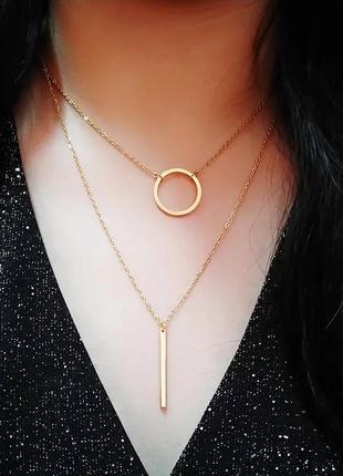 Двойная цепочка, цвет серебро или золото