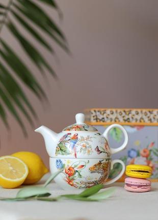 Набір: чашка з чайником edg italy