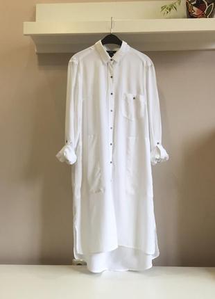 Легкое,натуральное платье-рубашка