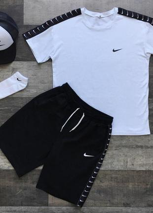 Летний комплект футболка+шорты nike (с-хл)