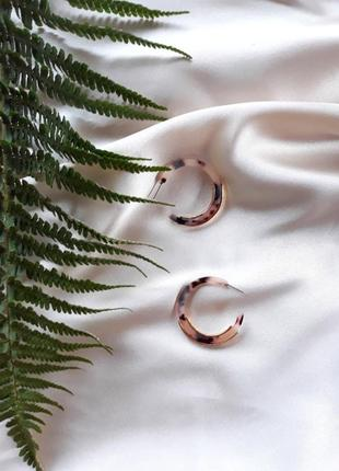 Сережки серьги кольца