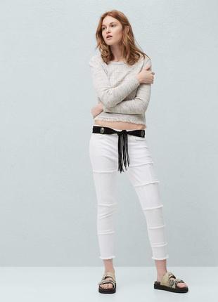 Белые джинсы от mango, 34р, испания, оригинал