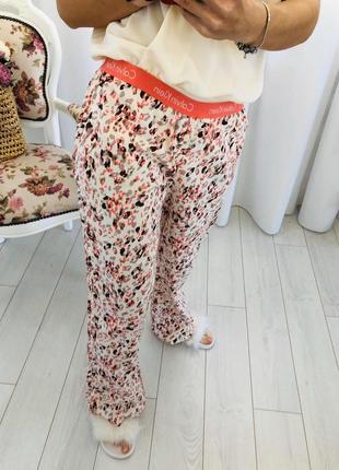Хлопковые домашние штаны пижама calvin klein