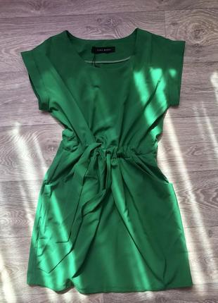 Платье принт zara
