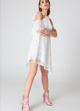 Дуже красиве біле ажурне плаття від na-kd🔥