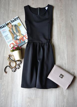 Черное короткое платье h&m