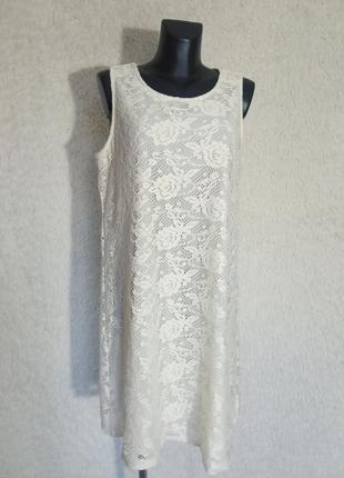 Ажурное платье на подкладке 18р