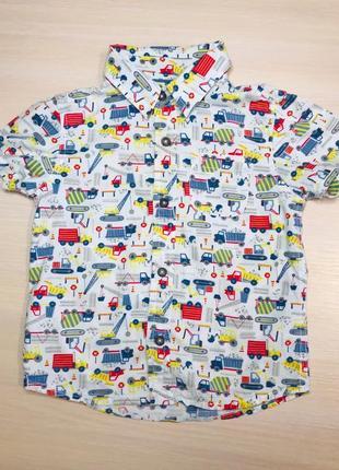 Рубашка 2-3 года с машинками 😍