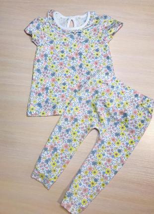 Летний костюмчик на малышку 9-12 месяцев