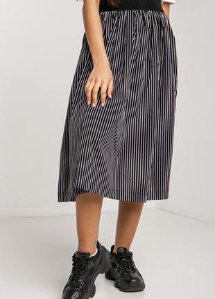 Полосатая хлопковая юбка в ретро стиле 3035134