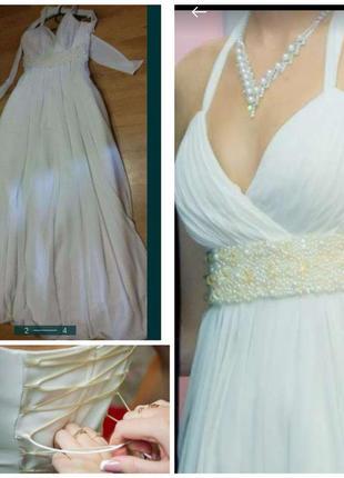 Платье в греческом стиле, свадебное,торжественое