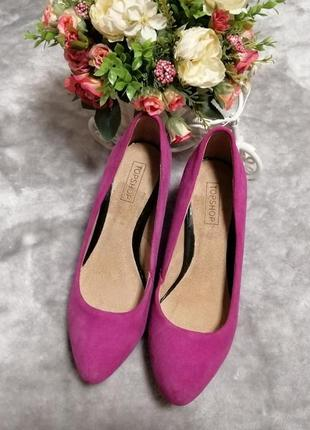 Шикарные замшевые туфли topshop р. 38