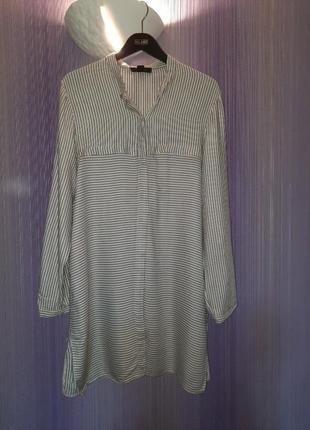 Платье-рубашка,платье в полоску