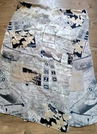 Стильный шелковый платок,шаль de queencey