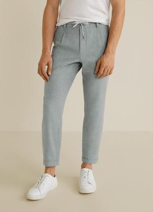 Льняные штаны mango