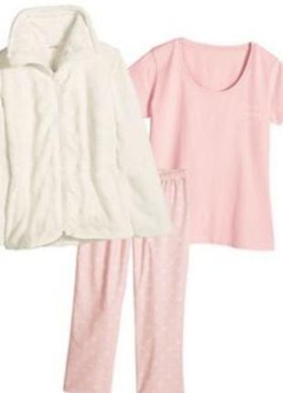 Теплый домашний костюм тройка пижама