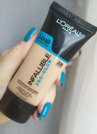 Тональный крем loreal infallible pro-glow 24hr foundation 30 ml