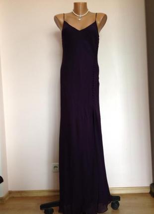 Длинное елегантное шелковое платье/l/ brend bdl