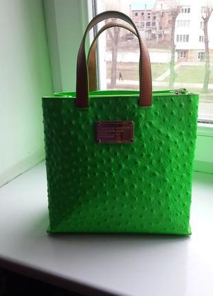 Супер классная летняя сумка из крокодильей кожи премиум бренда tosca blu
