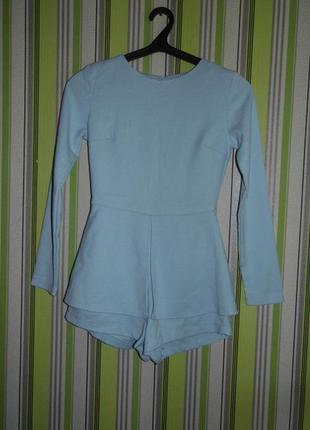 Шикарный голубой комбинезон шорты-юбка missguided uk 6 eu 34 - этикетка!!!
