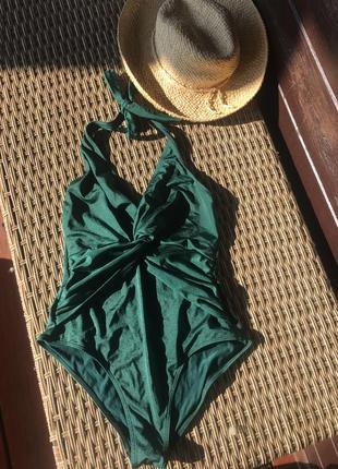 Шикарный купальник изумрудного цвета h&m ( как kors,oysho,calzedonia,tezenis,triumph)
