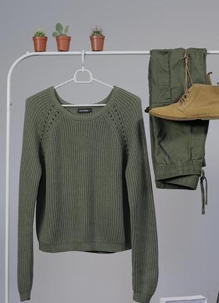 Зелений вязаний джемпер tally weijl