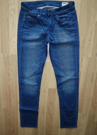 🌿 стильные базовые темно-синие джинсы g-star raw 3301