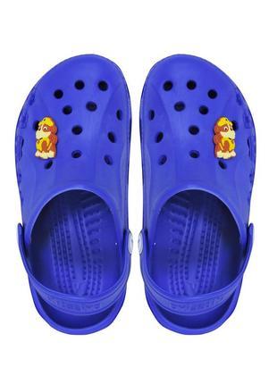 Детские кроксы v-0002. синие. 14,5 см