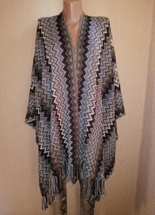 Красивое теплое женское пончо, накидка marks & spencer